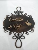 """Placa Decorativa MDF """"Cantinho do Café"""" - Eliane Garbin Artesanatos"""