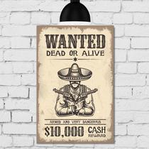 Placa Decorativa MDF Wanted - Quartinhos