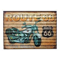 Placa Decorativa Metal Route 66 -  40 x 29 cm - Mart