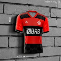 Placa Decorativa Modelo Camiseta Flamengo 2021 PDTCAR001F - Placa Pvc