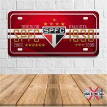 Placa Decorativa Modelo Placas de Carro Tema Futebol Times PDCF018 - Arte Quadros