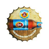 Placa Decorativa Modelo Tampa Cerveja Antarctica 29x29 Mdf6mm Madeira - Atacadão Do Artesanato Mdf