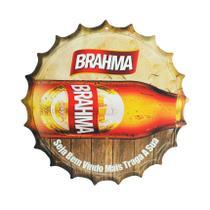 Placa Decorativa Modelo Tampa Cerveja Brahma 29x29 Mdf6mm Madeira - Atacadão Do Artesanato Mdf
