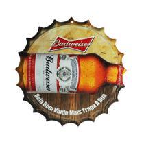 Placa Decorativa Modelo Tampa Cerveja Budweiser 29x29 Mdf6mm Madeira - Atacadão Do Artesanato Mdf