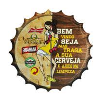 Placa Decorativa Modelo Tampa Cerveja Frase Bem Vindo 29x29 Mdf6mm Madeira - Atacadão Do Artesanato Mdf