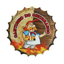 Placa Decorativa Modelo Tampa Cerveja Frase Cantinho 29x29 Mdf6mm Madeira - Atacadão Do Artesanato Mdf
