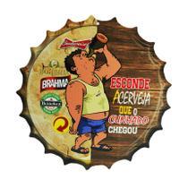 Placa Decorativa Modelo Tampa Cerveja Frase Esconde 29x29 Mdf6mm Madeira - Atacadão Do Artesanato Mdf