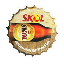 Placa Decorativa Modelo Tampa Cerveja Skol 29x29 Mdf6mm Madeira - Atacadão Do Artesanato Mdf