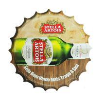 Placa Decorativa Modelo Tampa Cerveja Stella 29x29 Mdf6mm Madeira - Atacadão Do Artesanato Mdf