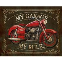 Placa Decorativa My Garage 24x19cm DHPM-171 - Litoarte -