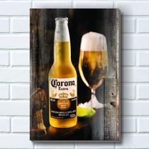 Placa decorativa p674- cerveja corona - R+ adesivos