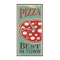 Placa decorativa Pizza S Best 25x50 cm Preto - Kapos