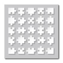 Placa Decorativa - Quebra-Cabeça - 1575plmk - Allodi