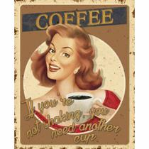 Placa Decorativa Retro Coffee 24x19cm DHPM-165 - Litoarte -