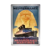 Placa decorativa Vintage Metal En Méditerranée BellaLice - Teem