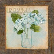 Placa Decorativo em MDF 14x14 Hortênsia DHPM5-107 - Litoarte -