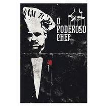 Placa Decorativo em MDF 22x33 O Poderoso Chef DHPM5-133 - Litoarte -