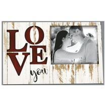 Placa Decorativo em MDF 25x14,5 Porta-Retrato Love You DHPM5-151 - Litoarte -