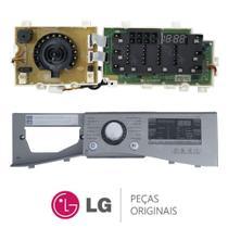 Placa Display / Interface 110V com Gabinete Frontal / Painel EBR74143680 Lava e Seca LG WD1485AT7 -