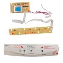 Placa e adesivo compatível com a máquina de lavar roupas brastemp bwc06a  bwm08a bivolt - Cp Placas
