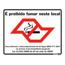 Placa e proibido fumar neste loca encartale -
