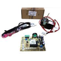 Placa eletronica modulo de potencia geladeira electrolux 220v + motor ventilador + sensor degelo -