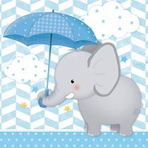 Placa em MDF e Papel Decor Home Elefante com Guarda-Chuva Menino DHPM-088 - Litoarte -