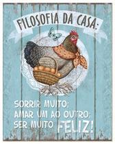 Placa em MDF e Papel Decor Home Filosofia da Casa DHPM-001 - Litoarte -