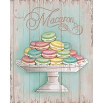 Placa em MDF e Papel Decor Home Macaron DHPM-071 - Litoarte -
