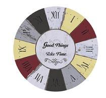 Placa em MDF e Papel Decor Home Relógio DHPM-049 - Litoarte -