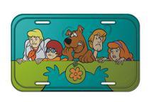 Placa em metal para parede Scooby Everybody Scared Colorido - Urban