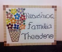 Placa em mosaico família 45 cm - Myo Atelier