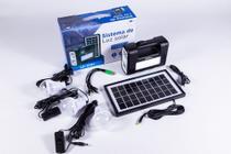 Placa Energia Solar + Lâmpada, Lanterna Acampamento Pescaria - Luatek