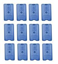 Placa Gelo-x Gel Rígido Reutilizável 500ml 17x10x3cm Gelotech Kit c/ 12 unidades -