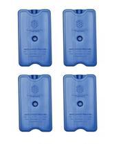 Placa Gelo-x Gel Rígido Reutilizável 500ml 17x10x3cm Gelotech Kit c/ 4 unidades -