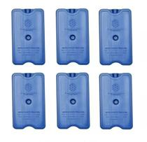 Placa Gelo-x Gel Rígido Reutilizável 500ml 17x10x3cm Gelotech Kit c/ 6 unidades -