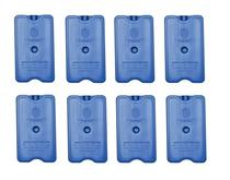 Placa Gelo-x Gel Rígido Reutilizável 500ml 17x10x3cm Gelotech Kit c/ 8 unidades -