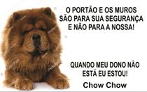 Placa Identificação Cão Bravo Cuidado Chow-chow - Shopmedclean