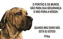 Placa Identificação Cão Bravo Cuidado Fila - Shopmedclean