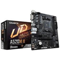 Placa Mãe A520M-H AMD AM4 Micro ATX DDR4 Ryzen 3/Geração GIGABYTE -