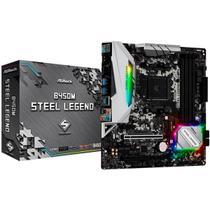 Placa Mãe ASRock B450M Steel Legend, AMD AM4, DDR4, mATX -