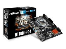 Placa Mãe Asrock H110M-HG4 Socket Intel LGA1151 DDR4 Uatx 6º e 7º Geração -