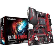 Placa mãe B450M, Gigabyte Gaming, mATX, AMD AM4, DDR4 -
