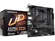 Placa Mãe Gigabyte A520M DS3H AMD AM4 - DDR4 Micro ATX