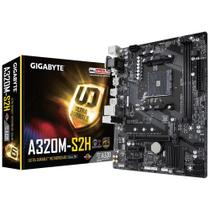 Placa Mãe Gigabyte AM4 Dual Channel DDR4 Até 32GB Slot M.2 UEFI BIOS HDMI Gigabit - GA-A320M-S2H
