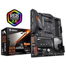 Placa Mãe Gigabyte Aorus Elite X570, Amd Am4 Atx, 4xddr4, 3-M.2, Usb 3.2 Tipo A,C, Rede Intel, Áudio -