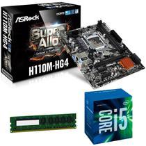 Placa mãe H110M + Processador Intel Core i5 7400 7ª Geração  + Memória 8GB DDR4  Kit upgrade - Msi