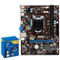 Placa Mãe Lga 1150 Intel Ddr3 Processador Intel I5-4590 Msi -