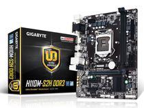 Placa Mae LGA 1151 INTEL Gigabyte GA-H110M-S2H M-ATX DDR3 1600MHZ HDMI USB 3.0 -