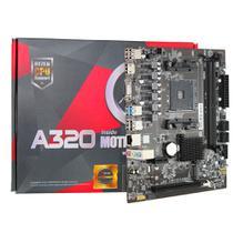 Placa Mãe Micro ATX AFOX A320-MA-V2 AMD Ryzen AM4 AMD A320 VGA HDMI USB 3.0 DDR4 Até 32GB - Brx